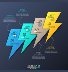 creative infographic design layout 4 multicolored vector image vector image