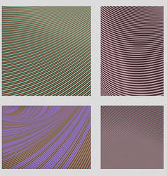 Curved stripe design page background set vector image vector image