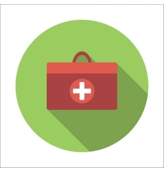 Doctor bag flat icon vector
