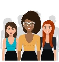 Elegant businesswomen isolated icon design vector