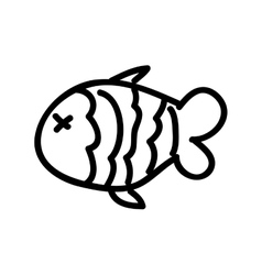 fish food isolated icon design vector image vector image