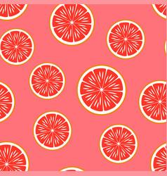 grapefruit seamless pattern vector image