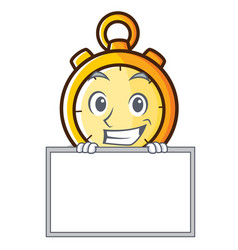Grinning board chronometer character cartoon style vector