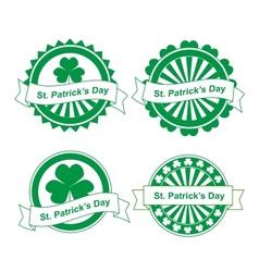 Grunge st Patricks day stamps vector image