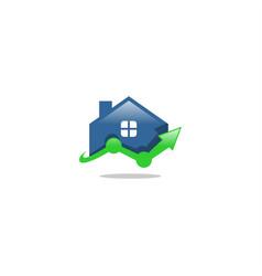 home finance logo vector image