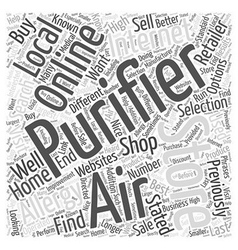 How to buy an allergy purifier word cloud concept vector