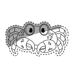 Marine crab cartoon vector