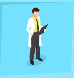 medical staff man doctor vector image vector image