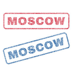 Moscow textile stamps vector