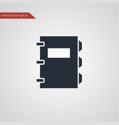 Note book icon simple vector