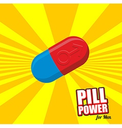 Power pill for men Color Tablet for potency vector image