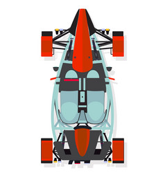 Red sport car buggy top view in flat style vector