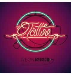 Retro neon tattoo sign vector