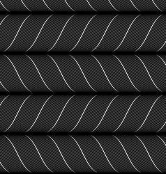 Ribbons black horizontal chevron pattern vector image