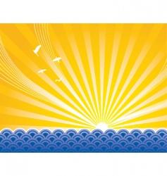 sunrise sea vector image vector image