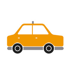 taxi car side public service vehicle transport vector image