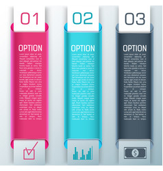 Three 3 d style business banner set vector