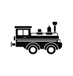 Train locomotive black simple icon vector