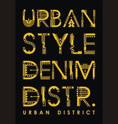 typography urban district vector image vector image
