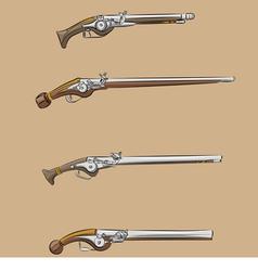 Vintage pistols a vector