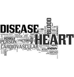 What is heart disease text word cloud concept vector
