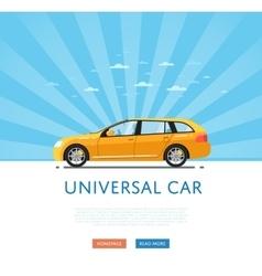 yellow universal citycar vector image vector image