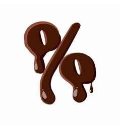 Percent sign from latin alphabet made of chocolate vector