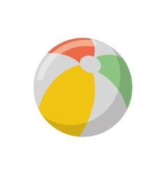 Isolated striped ball design vector
