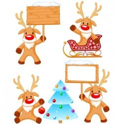 reindeer Rudolph vector image