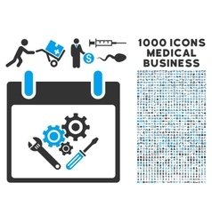 Instrument tools calendar day icon with 1000 vector