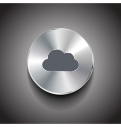Metal cloud button vector