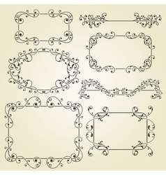Lacy vintage floral design elements vector