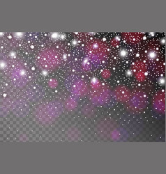 Abstract shiny violet sparkles and flares effect vector