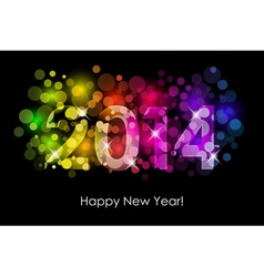 Happy new year - 2014 background vector