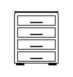 Archive drawers office supplies related icon image vector