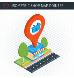 Isometric shop building vector