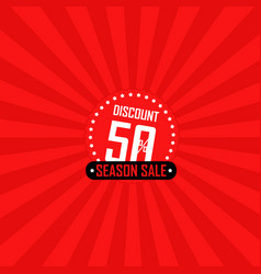 Season sale banner vector
