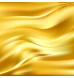 Abstract texture yellow silk vector