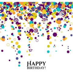Birthday card with polka dots and wishes text vector