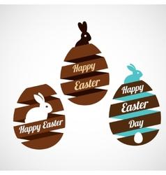 Easter egg ribbons set vector image