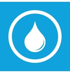 Water drop sign icon vector