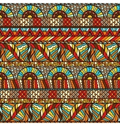Ethnic seamless pattern with hand drawn ornament vector