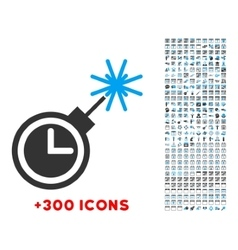 Time bomb icon vector