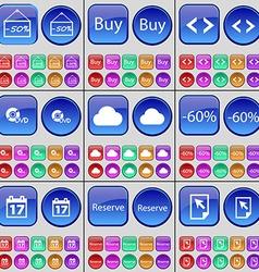 Discount Buy Code DVD Cloud Discount Calendar vector image