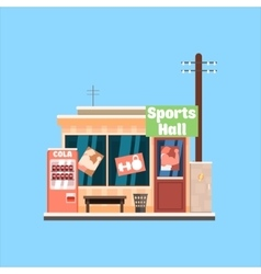Sports hall front vector