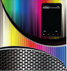 smartphone background vector image