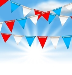 Bunting flags for american holidays patriotic vector