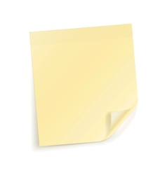 Note sticky sheet vector