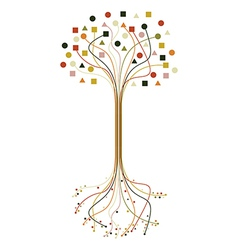 Abstract roots and branches tree set vector image