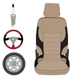 Auto parts icons vector image